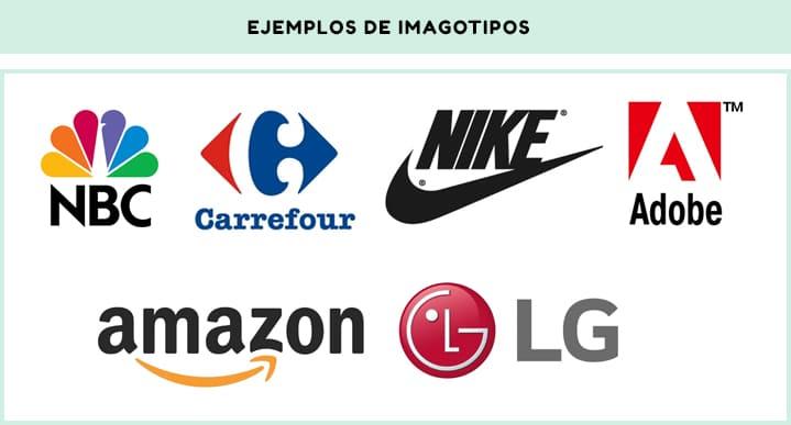 Ejemplos de imagotipos de diferentes empresas