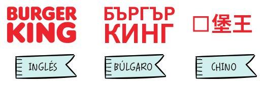 Logo de Burger King en varios idiomas